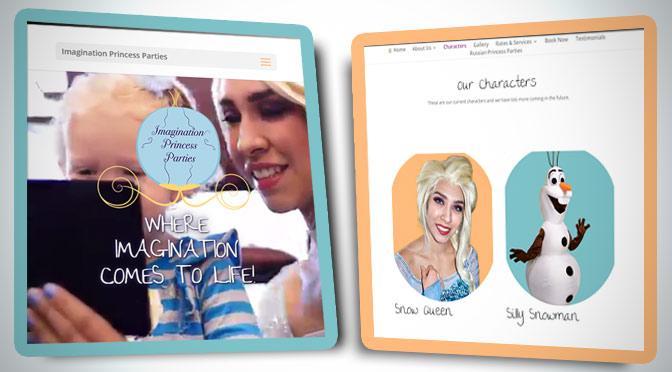 Bibbidi-Bobbidi-Boo- Imagination Princess Parties just got a New Website